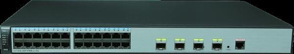 Коммутатор Huawei S5720S-28P-PWR-LI-AC (24хEthernet 10/100/1000 ports, 4хGig SFP, PoE+, 370W POE AC power support