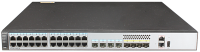 Коммутатор Huawei S5720-28P-SI-AC (24x10/100/1000BASE-T ports, 4 of which are 10/100/1000BASE-T+SFP combo ports, 4xGE SFP ports, 1xAC power supply)
