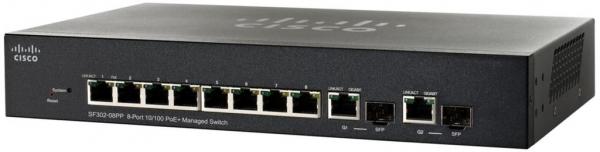 Коммутатор Cisco SB SF302-08PP-K9-EU