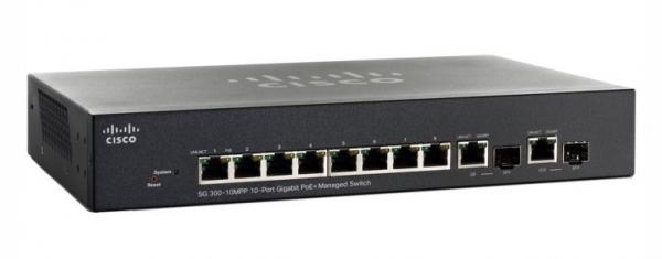 Коммутатор Cisco SB SG300-10MPP-K9-EU