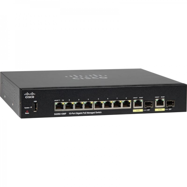 Коммутатор Cisco SG350-10MP-K9-EU