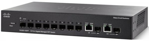Коммутатор Cisco SG350-10SFP-K9-EU