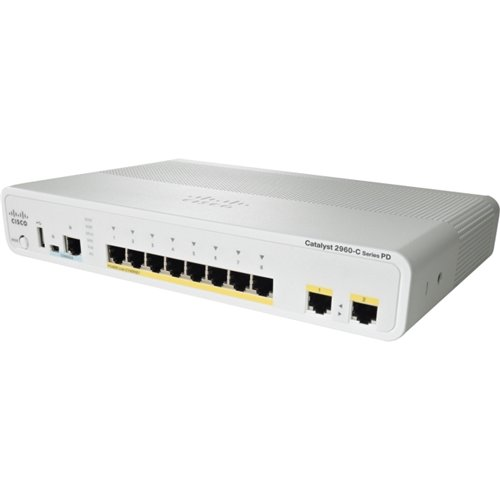 Коммутатор Cisco WS-C2960C-8PC-L (8 портов, PoE)