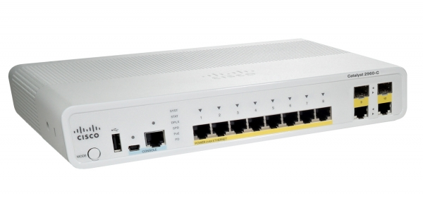 Коммутатор Cisco Catalyst WS-C2960C-8TC-L (8 портов)