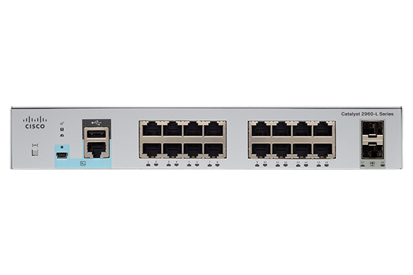 Коммутатор Cisco Catalyst WS-C2960L-16PS-LL (16 портов)