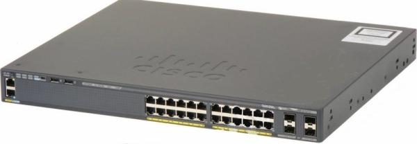 Коммутатор Cisco WS-C2960RX-24PS-L (24 порта, с PoE)