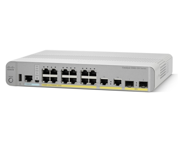 Коммутатор Cisco WS-C3560CX-12PC-S (12 портов, PoE)