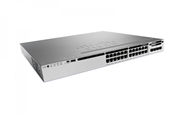 Коммутатор Cisco Catalyst WS-C3850-24PW-S (24 порта, с PoE)