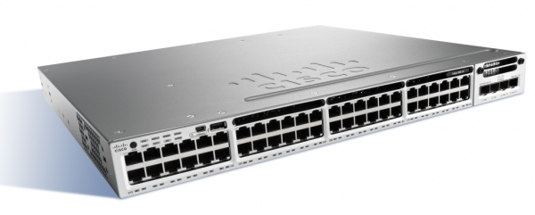 Коммутатор Cisco WS-C3850-48P-S (48 портов, PoE)